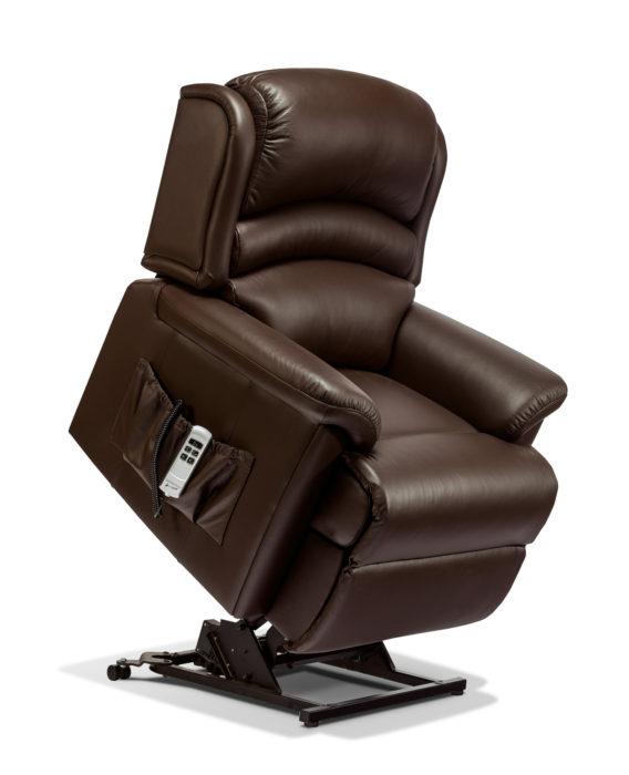 olivia small leather electric riser recliner sherborne. Black Bedroom Furniture Sets. Home Design Ideas