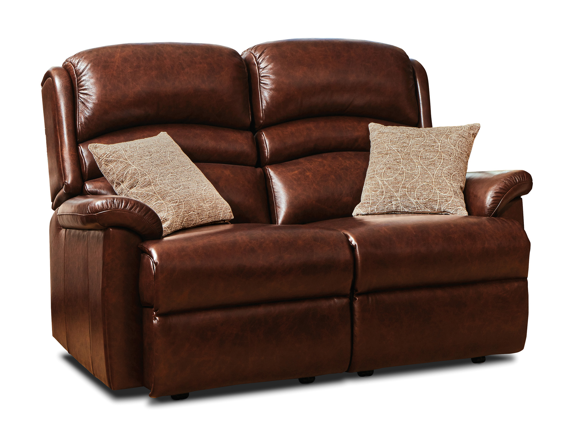 Pleasant Olivia Standard Leather Fixed 2 Seater Settee Sherborne Dailytribune Chair Design For Home Dailytribuneorg