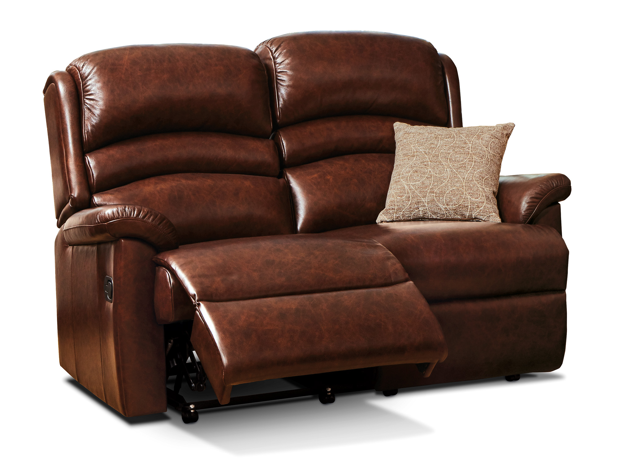 Olivia Standard Leather Reclining 2 Seater Settee