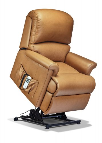 Brilliant Keswick Small Leather Electric Riser Recliner Sherborne Creativecarmelina Interior Chair Design Creativecarmelinacom