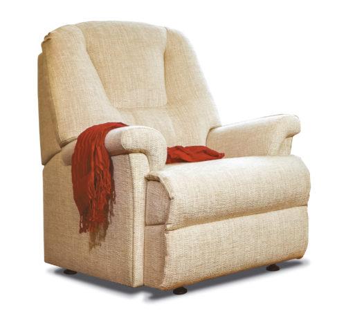 Milburn Petite Fabric Fixed Chair