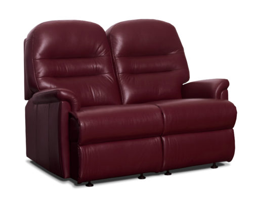 Keswick Small Leather Fixed 2-Seater Settee