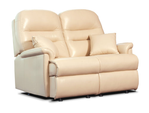 Keswick Standard Leather Fixed 2-Seater Settee