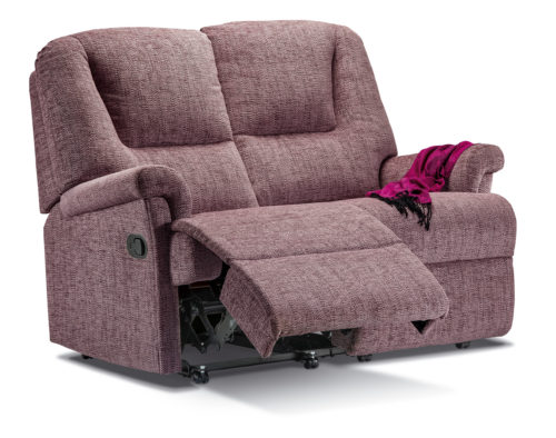 Milburn Small Fabric Reclining 2-Seater Settee