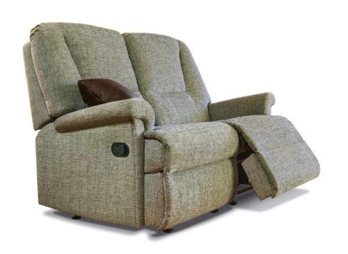 Milburn Standard Fabric Reclining 2-Seater Settee