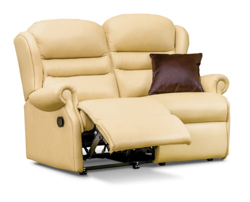 Ashford Small Leather Reclining 2-Seater Settee