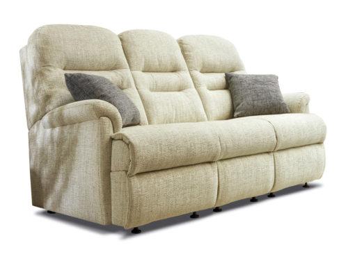 Keswick Small Fabric Fixed 3-Seater Settee