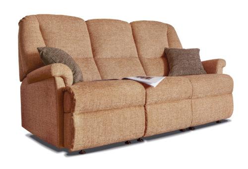 Milburn Standard Fabric Fixed 3-Seater Settee