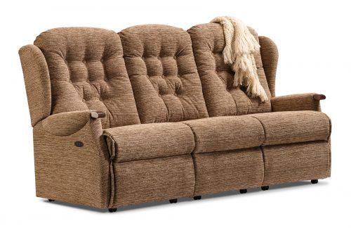 Lynton Knuckle Standard Fabric Reclining 3-Seater Settee