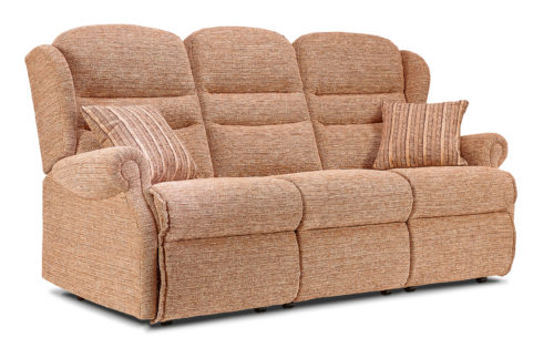 Ashford Small Fabric Fixed 3-Seater Settee