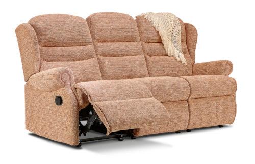 Ashford Small Fabric Reclining 3-Seater Settee