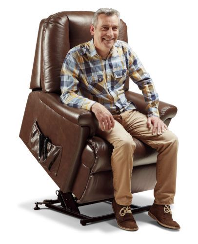 Milburn Royale Leather 'Lift & Rise' Recliner