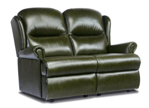 Malvern Standard Leather Fixed 2-Seater Settee