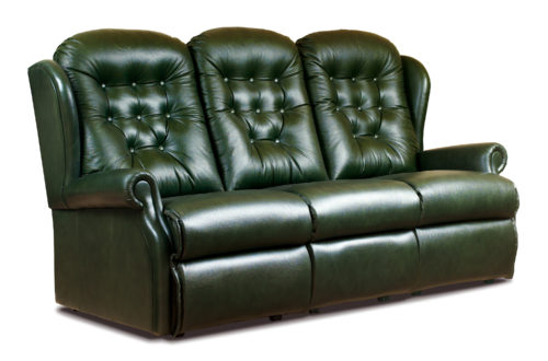 Lynton Small Leather Reclining 3-Seater Settee