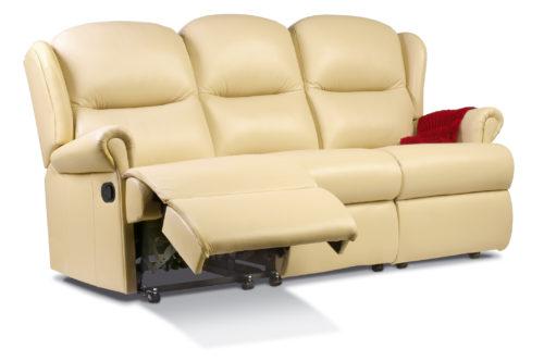 Malvern Small Leather Reclining 3-Seater Settee